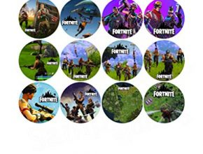 Fortnite Double Sided Images Cupcakes Picks Cake Topper - 12