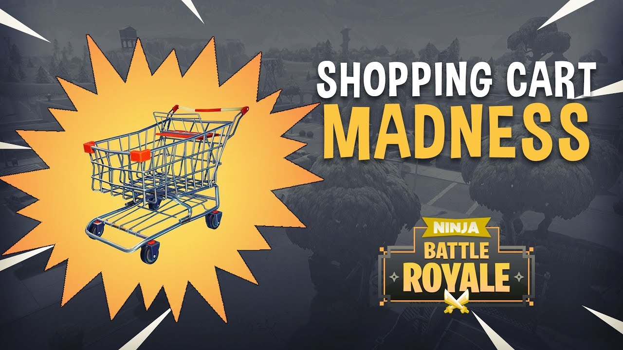 shopping cart madness fortnite battle royale gameplay ninja timthetatman - shopping cart on fortnite