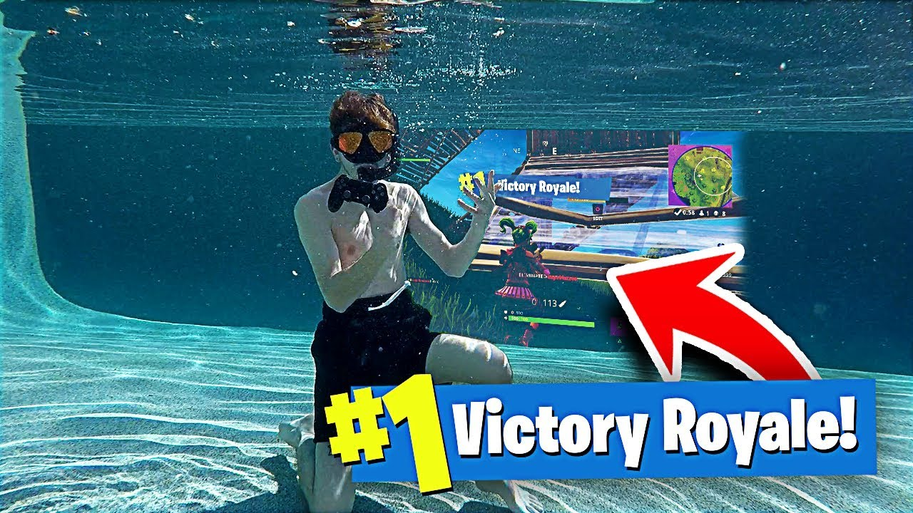 I Won a Game of FORTNITE UNDER WATER