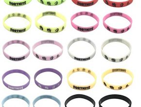 20 Pack FORTNITE Bracelets,Birthday Party Supplies Favors for FORTNITE Gamers,GLOW IN THE DARK,10 Colors
