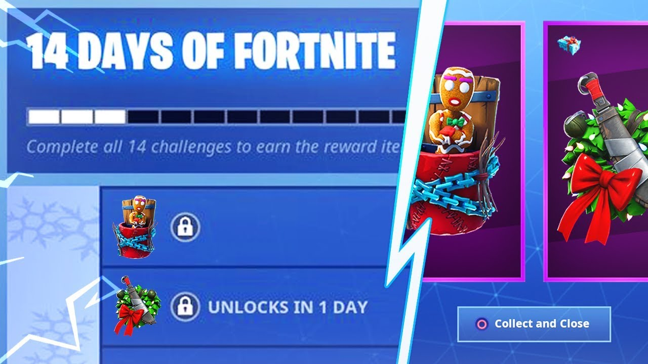 14 Days Of Fortnite Event Challenges New Free Fortnite Christmas