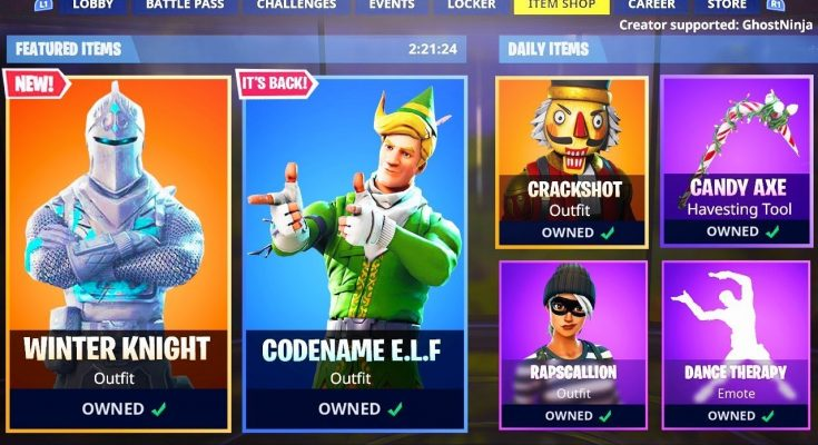 Christmas Skins.New Christmas Skins In Fortnite Item Shop Skins Live