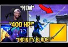 """Streamer USING the *NEW* """"INFINITY BLADE"""" SWORD in Fortnite MELEE WEAPON"""