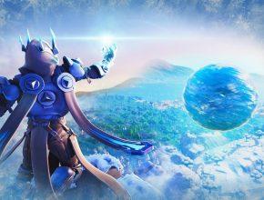 """Fortnite Floating Ice Ball Polar Peak """"Fortnite Ice Storm Event"""" (Fortnite Season 7 Event Gameplay)"""