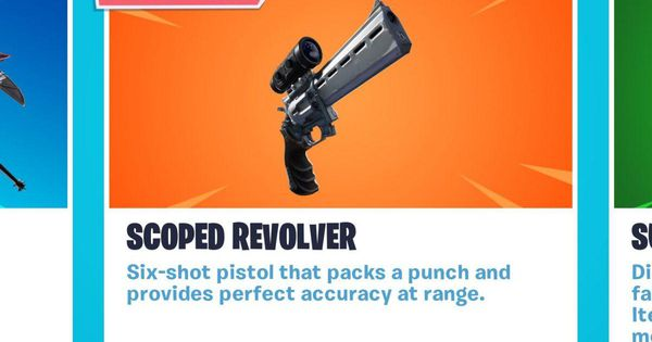 'Fortnite' Is Getting A Legendary New 'Scoped Revolver' With Patch 7.20