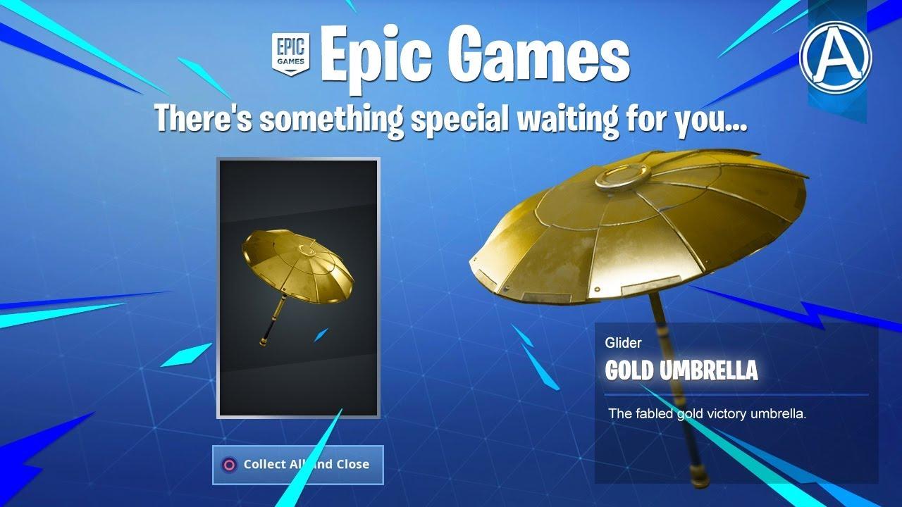 new fortnite gold umbrella 1900 wins use code byarteer - fortnite the umbrella season