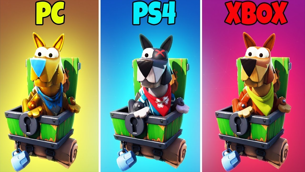 pc vs ps4 vs xbox in fortnite battle royale season 8 - new fortnite vehicles season 8