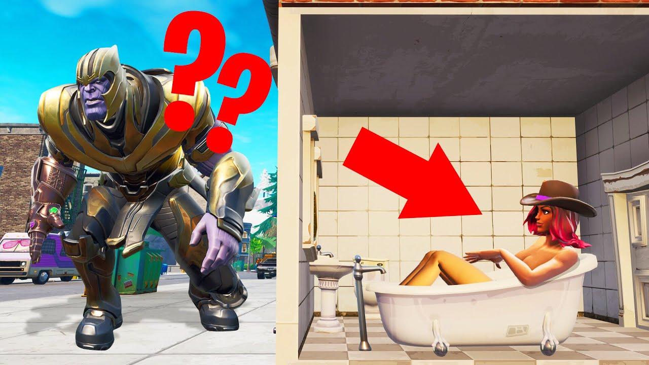 thanos plays hide and seek in fortnite avengers endgame - end game playing fortnite