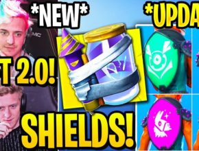 "STREAMERS REACT TO *NEW* ""JUNK RIFT"" & ""BANNER SHIELDS"" in Fortnite!"